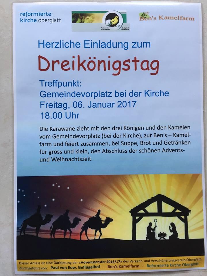 Dreikönigstag, Bens Kamelfarm Oberglatt