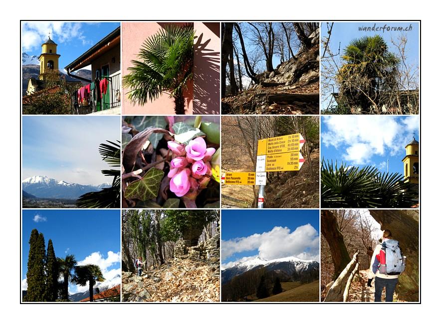 Wanderung Bellinzona Tessin
