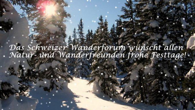 Wandergruppe Weihnachten