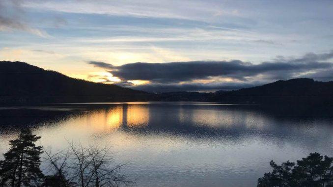 Zuger See Sonnenuntergang