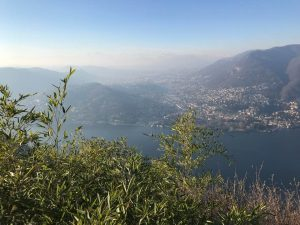 Panoramablick Brunate Como
