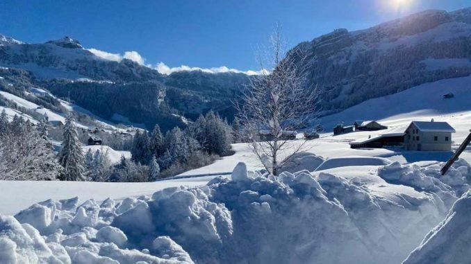 Viel Schnee in Brülisau
